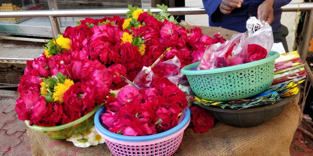 Flowers at orchha temple