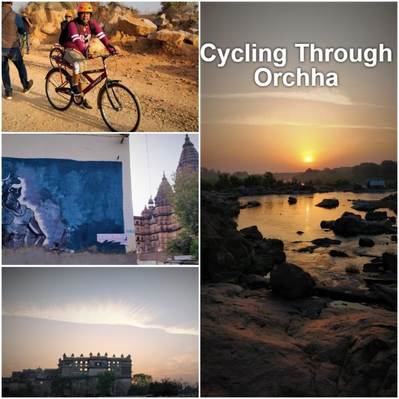 cycling through Orchha