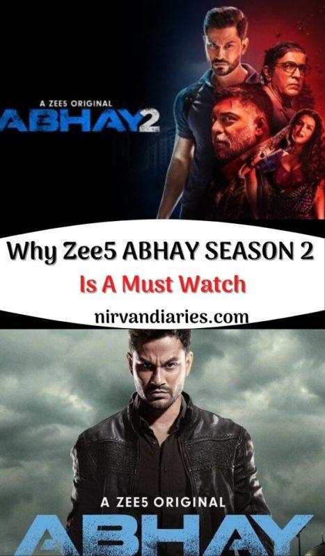Zee5 ABHAY SEASON 2